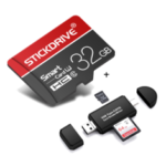 Оригинал              StickDrive 32GB Высокоскоростная карта памяти TF класса 10 с адаптером для карты камера + 3 в 1 Type-C USB 2.0 Micro USB устройство чтения карт памяти