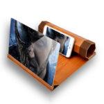 """Оригинал              Unversal 12 """"3D HD Rollable Wood Экран телефона Лупа Видео Фильм Усилитель Для Смартфонов"""