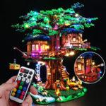 Оригинал              DIY Светодиодный Освещение Набор ТОЛЬКО Для Lego 21318 Идеи Treehouse Кирпичи Игрушки W / Дистанционный