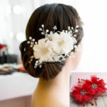 Оригинал              Женщины Кристалл Rhinestone Волосы Клипы Цветок Свадебный Свадебное Аксессуары Головные Уборы