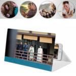 Оригинал              12 дюймов 3D Экран телефона Лупа Видео Видео Усилитель Держатель телефона для смартфона для iPhone для Samsung Huawei Xiaomi