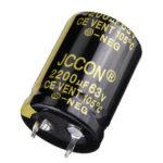 Оригинал              2200UF 63V 22x30m Радиальный алюминиевый электролитический конденсатор Capacito200UF 63V 22x30mm Радиальный алюминиевый электролитический конденсатор Выс