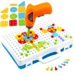 Оригинал              144шт дети электрические Дрель мощность Инструмент Болт водитель Дрель игрушки строительство Дрель игрушки DIY образование подарки