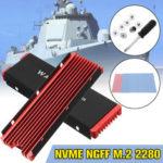 Оригинал              M.2 NVME Алюминиевый радиатор NGFF PCI-E 2280 SSD Охлаждающий вентилятор Fin-Cooler W / Thermal Pad