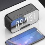 Оригинал              3 в 1 беспроводной стерео Hi-Fi Bluetooth-динамик сигнализация Часы держатель телефона встроенный HD микрофон поддержка TF карта FM