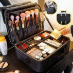 Оригинал              2/3 яруса Макияж Сумка Travel Cosmetic Чехол Desktop Beauty Щетка Органайзер Коробка Большая емкость для хранения косметики Сумка