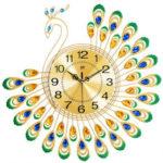 Оригинал              Павлин Стена Часы Гостиная в европейском стиле Личность Креативная мода Часы