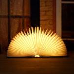 Оригинал              Деревянный Складной Книжный Светильник Творческий Флип Чтение Книги Лампа LED Ночник Мини Colorful Книжный Свет