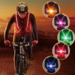 Оригинал              Открытый свет Up LED Волокно Светоотражающие Безопасность Ремень Жилет Ремень Ночной Спорт Велосипед Свет