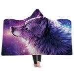 Оригинал              Мягкое одеяло с капюшоном Throw Winter Home Sofa Теплый плюшевый плащ 3D печать Одеяла Домашнее постельное белье