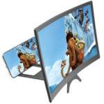 Оригинал              12 дюймов Изогнутые 3D HD Экран телефона Лупа Видео Видео Усилитель для смартфонов ниже 6,5 дюймов для iPhone Xiaomi Huawei