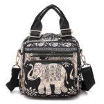 Оригинал              Женская симпатичная рюкзак-сумочка Nylon Crossbody Сумка Tote Сумки