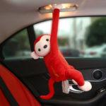 Оригинал              Ткань Коробка держатель мультфильм обезьяна автомобиль висит диспенсер салфеток
