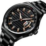 Оригинал              CURREN8375ДеловойстильLuminousДисплей Мужские наручные часы