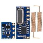 Оригинал              Беспроводной приемопередатчик дальнего радиуса действия 433 МГц Набор Мини РЧ передатчик Приемник Модуль + 2PCS пружинные антенны OPEN-SMART для Ar