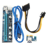 Оригинал              PCI-E Express USB3.0 Адаптер платы расширения 1x – 16x Кабель питания SATA