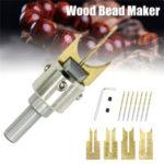 Оригинал              13шт 6-12мм бусины деревянные бусины Дрель бит фрезы деревообрабатывающие DIY Инструмент