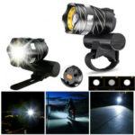 Оригинал              XANES® XL44 650LM T6 LED Масштабируемая велосипедная фара USB Зарядка USB Супер яркий велосипедный передний свет Велосипедная сигнальная лампа