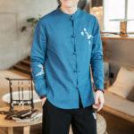 Оригинал              Мужской китайский стиль Xianhe вышитый китайский костюм Tang Ret