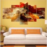 Оригинал              Новый 5 Шт. Звездных Кластеров Абстрактного Искусства Картины Распечатать Изображение Масло Холст Home Decor