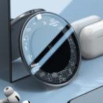 Оригинал              Baseus LED 15W Qi Прозрачный ультра-тонкий Upgrade Edition Портативное беспроводное зарядное устройство Беспроводное зарядное устройство для iPhone 11 Pro Ма