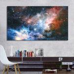 Оригинал              Без рамы 43×24 дюймов Космическая Галактика Вселенная Планета Плакат Ткани Шелковые Картины Настенная Печать Искусство Home Decor