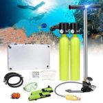 Оригинал              Оборудование для дайвинга, водные виды спорта, 0,5 л. Подводное дыхание, баллон с кислородом, инфляция Насос Дайвинг Маска Адаптер для хранен