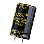 Оригинал              2200UF 100V 25x40mm Радиальный алюминиевый электролитический конденсатор Высокочастотный 105 ° C
