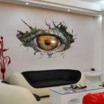 Оригинал              Динозавр Глаза 3D Art Стикер Стены Гостиной Украшения Стены Стикеры Спальня Детская Комната Декор
