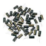 Оригинал              50Pcs 50V 470UF 10 x16MM Высокочастотный Низкий ЭПР Радиальный электролитический конденсатор