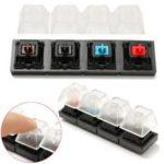 Оригинал               4 прозрачных колпачка и 4 черри MX переключатель Keycap Sampler Tester Набор