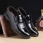 Оригинал              Мужская повседневная офисная формальная работа Оксфорды Кожаная обувь с круглым носком Business Платье