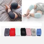 Оригинал              1 пара младенческой малышей анти-скольжения эластичный наколенник ползая защитная подушка для ног