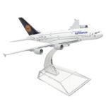 Оригинал              1: 400 Модель Самолета Сплава Самолета A380 Lufthansa Самолет Шкала Настольные Игрушки 16 см