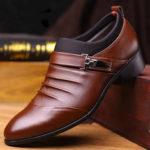 Оригинал              Мужская повседневная одежда Pure Color Soft Оксфорды из деловой кожи