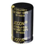 Оригинал              4700UF 63V 25x40mm Радиальный алюминиевый электролитический конденсатор высокочастотный 105 ° C