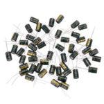 Оригинал              50Pcs 16V 470UF 8 x 12MM Высокочастотный радиальный электролитический конденсатор ESR