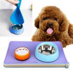 Оригинал              Силикон Собака Placemat Pet Кот Чаша для кормления Пищевой водяной коврик Протрите Pet Pet Удар