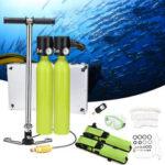 Оригинал              Водный спортивный комплект для дайвинга 2×0.5L Кислородный баллон 2xRespirator Насос Diving Маска Valve Подводное снаряжение для дайвинга