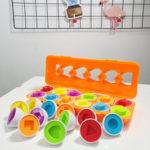 Оригинал              Цвет Формы Соответствие Игрушки Яйца Набор Дошкольного Детского Малыша Baby Puzzle Game