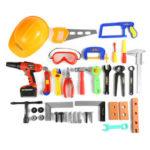 Оригинал              Детская Набор инструментов Baby Simulation Repair Tool Электрический Дрель Отвертка Инструмент для ремонта Игрушечный набор Мальчик Малыш Игрушки Craft