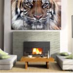 Оригинал              4шт HD печать на холсте стены искусства картины бенгальский тигр без рамы домашнего декора