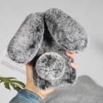 Оригинал              Bakeey Winter 3D Cute Furry Diamond Кроличьи уши Защитный чехол Чехол для iPhone X XS XR XS Макс