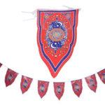 Оригинал              8 ШТ. Рамадан Флаг Исламская Овсянка Подвесной Флаг Ид Мубарак Партия Украшения