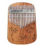 Оригинал              Cega 17 Key Mahogany Kalimbas Полная твердая фанера Круглый угол Пластина Большой палец Фортепиано Перстень