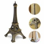 "Оригинал               6"" Tone Paris Eiffel Tower Figurine Statue Vintage Alloy Model Home Decorations"