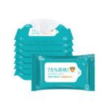 Оригинал              1 упаковка из 10 шт. 75% салфетки для дезинфекции спирта. Чистящие влажные салфетки. Используются для чистки и стерилизации.