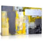 Оригинал              Абстракция Серый Желтый Картины Искусства Холст Печати Настенные Панно Офицерский Дом Без Рамы