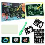 Оригинал              Магия Развивающие Флуоресцентные Развивающие Игрушки Luminous Light Up Drawing Набор Картон с Light Fun и Ручка для Детей Дети Doodle Art Write