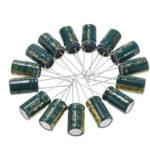 Оригинал              50Pcs 35V 470UF 10 x16MM Высокочастотный Низкий ЭПР Радиальный электролитический конденсатор